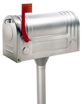 With Post Stainless Steel Mailbox Steel Mailbox Traditional Mailboxes