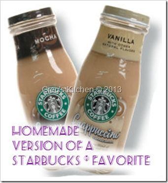 Homemade Starbucks Bottled Frappuccino In 2019
