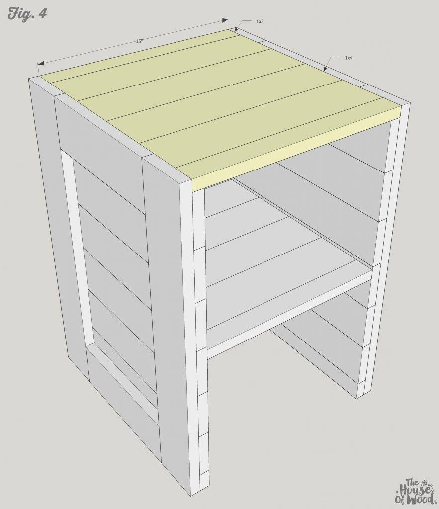 Free Plans DIY Rustic Nightstand Rustic nightstand, Diy
