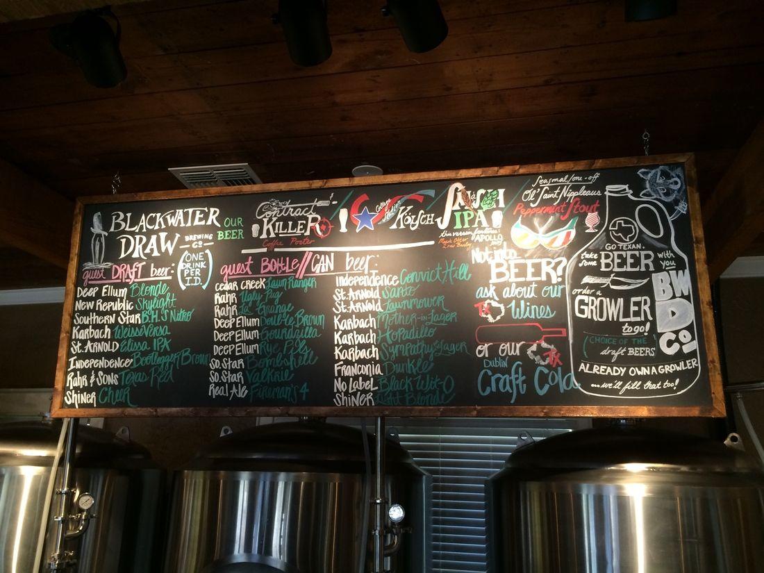 Bwd_chalkboard Brew pub, College station, Brewery