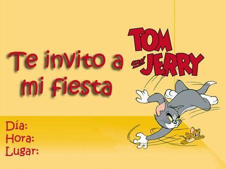 Te Invito A Mi Fiesta Tarjeta De Cumpleaños De Tom Y Jerry