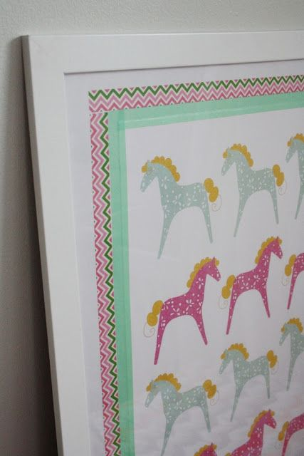 Frames with washi tape