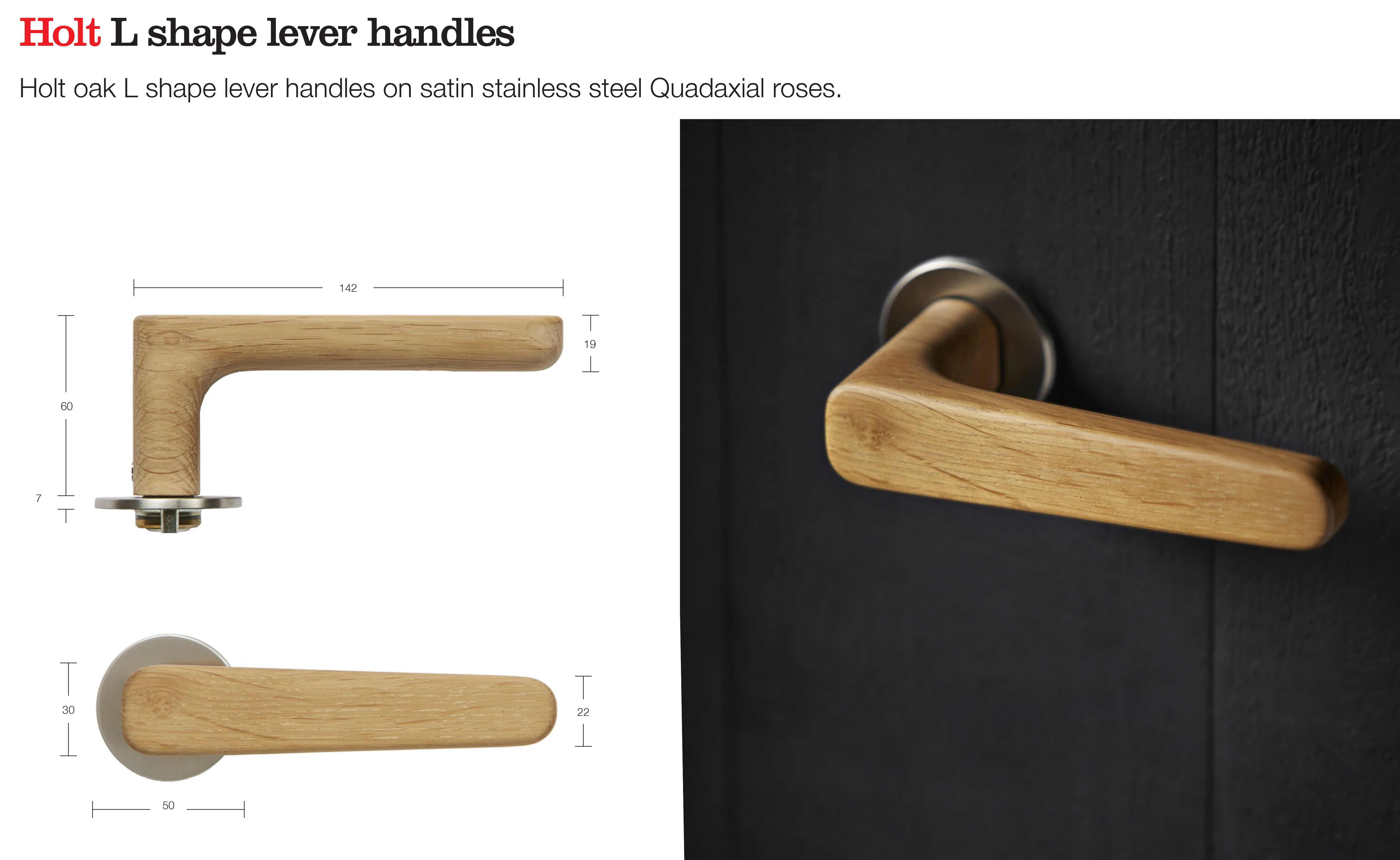 Holt Wooden Lever Handle Designed By Alex Mowat Manufactured By