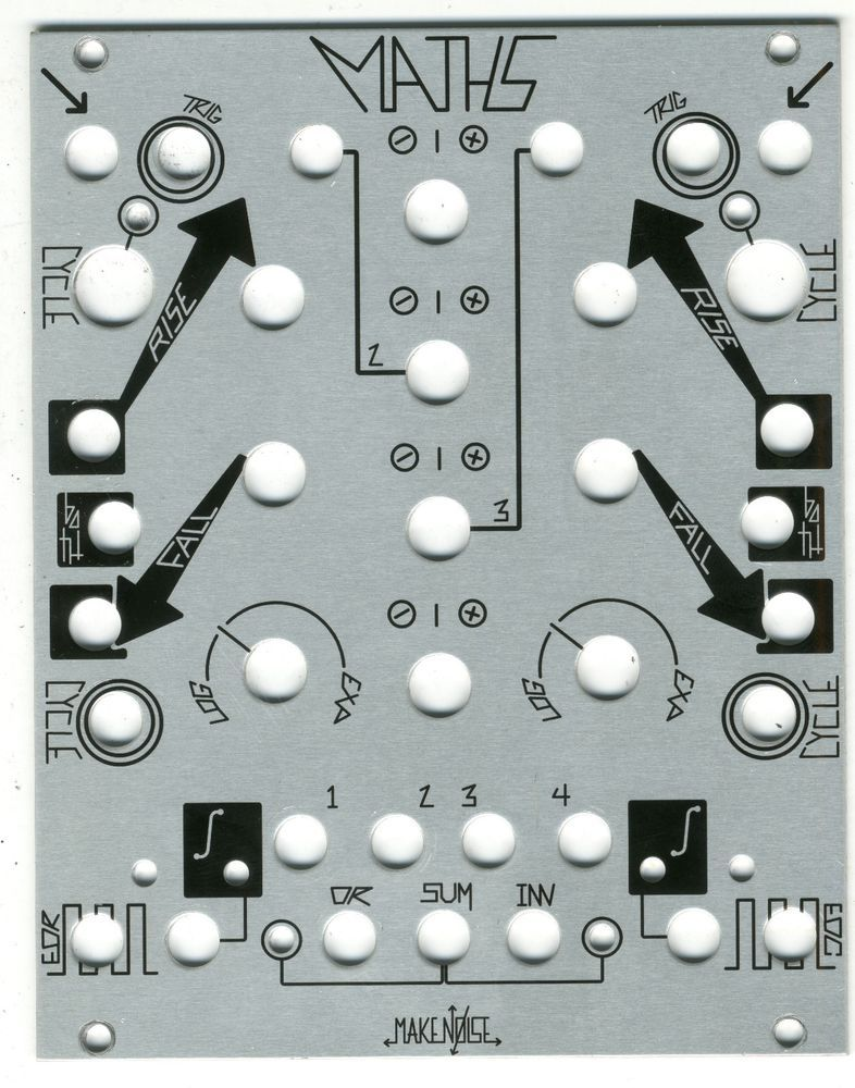make noise maths 2013 module panel 20hp for eurorack modular synthesizers synth makenoise. Black Bedroom Furniture Sets. Home Design Ideas