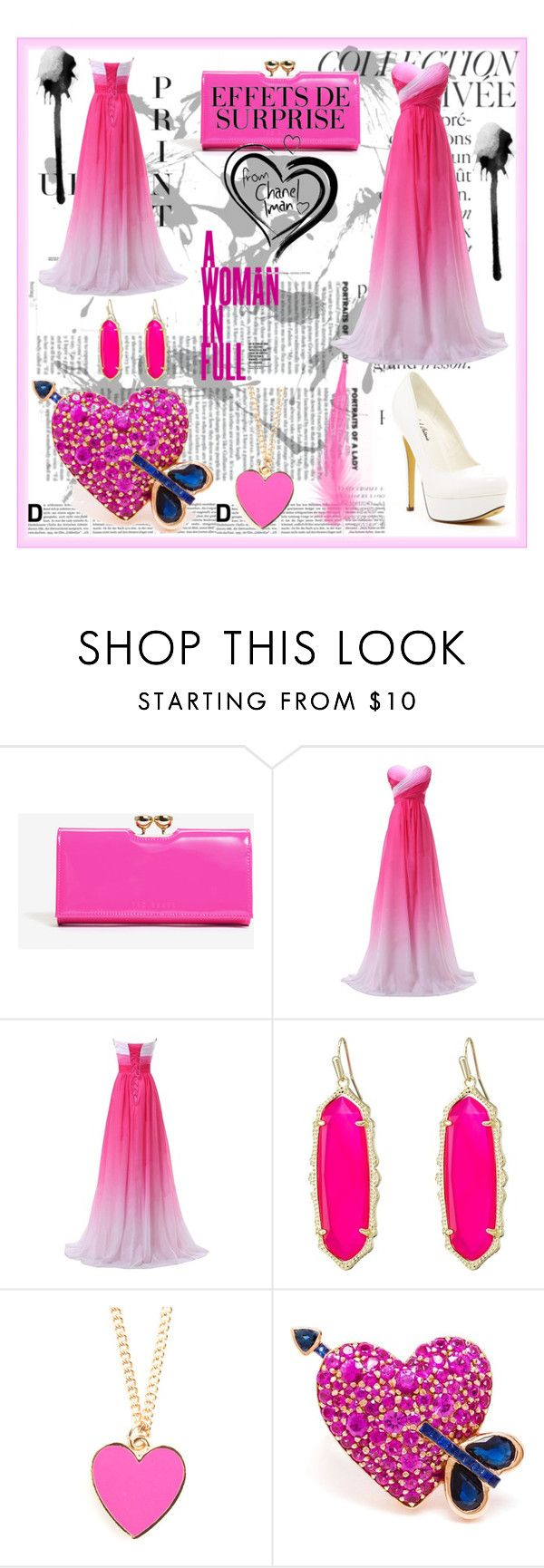 """""""Life is good #5"""" by semafake ❤ liked on Polyvore featuring By Terry, Ted Baker, KAROLINA, Kendra Scott, KDIA and Michael Antonio"""