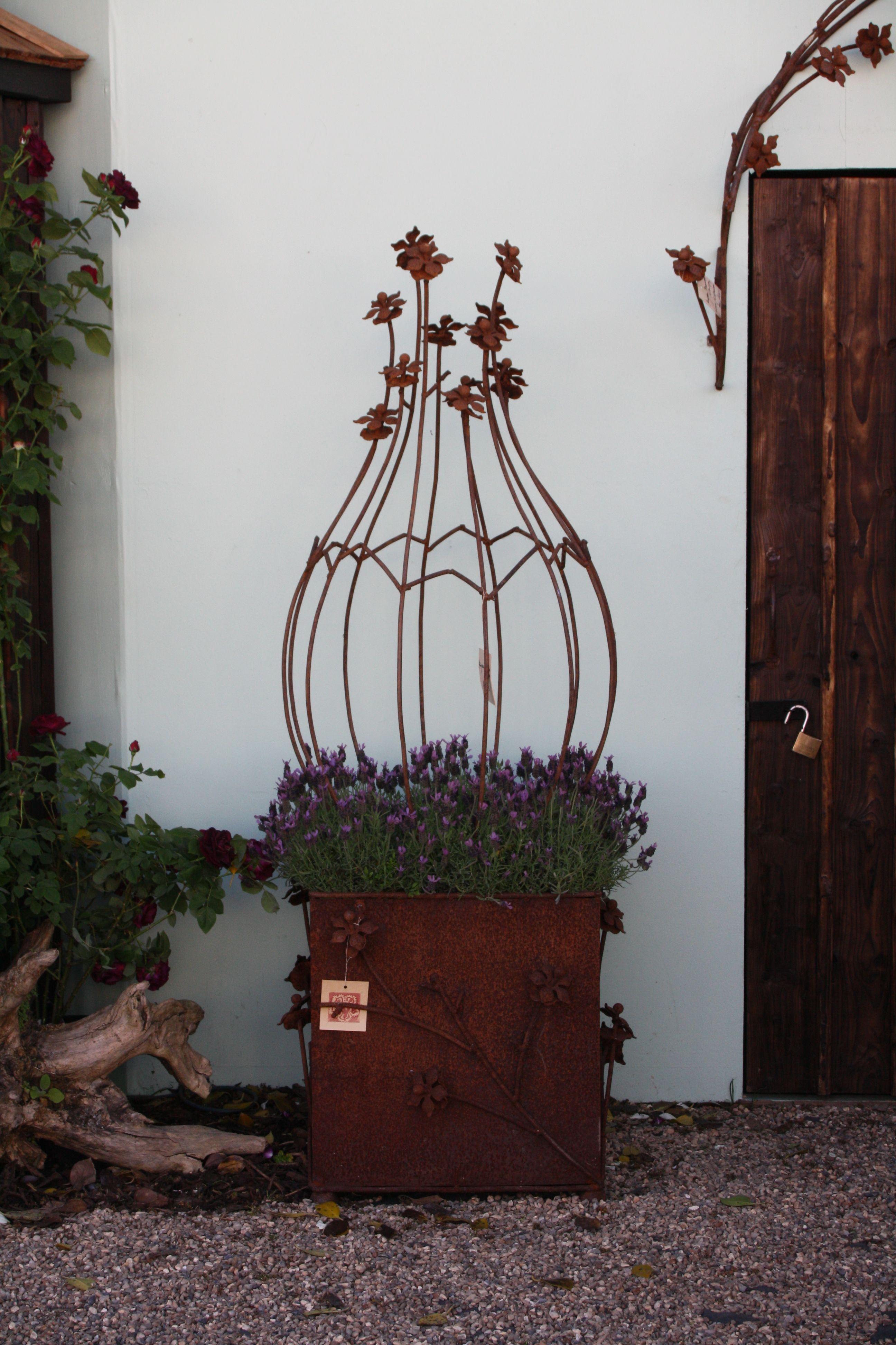Obelisk Garden Art; Metal Pinterest