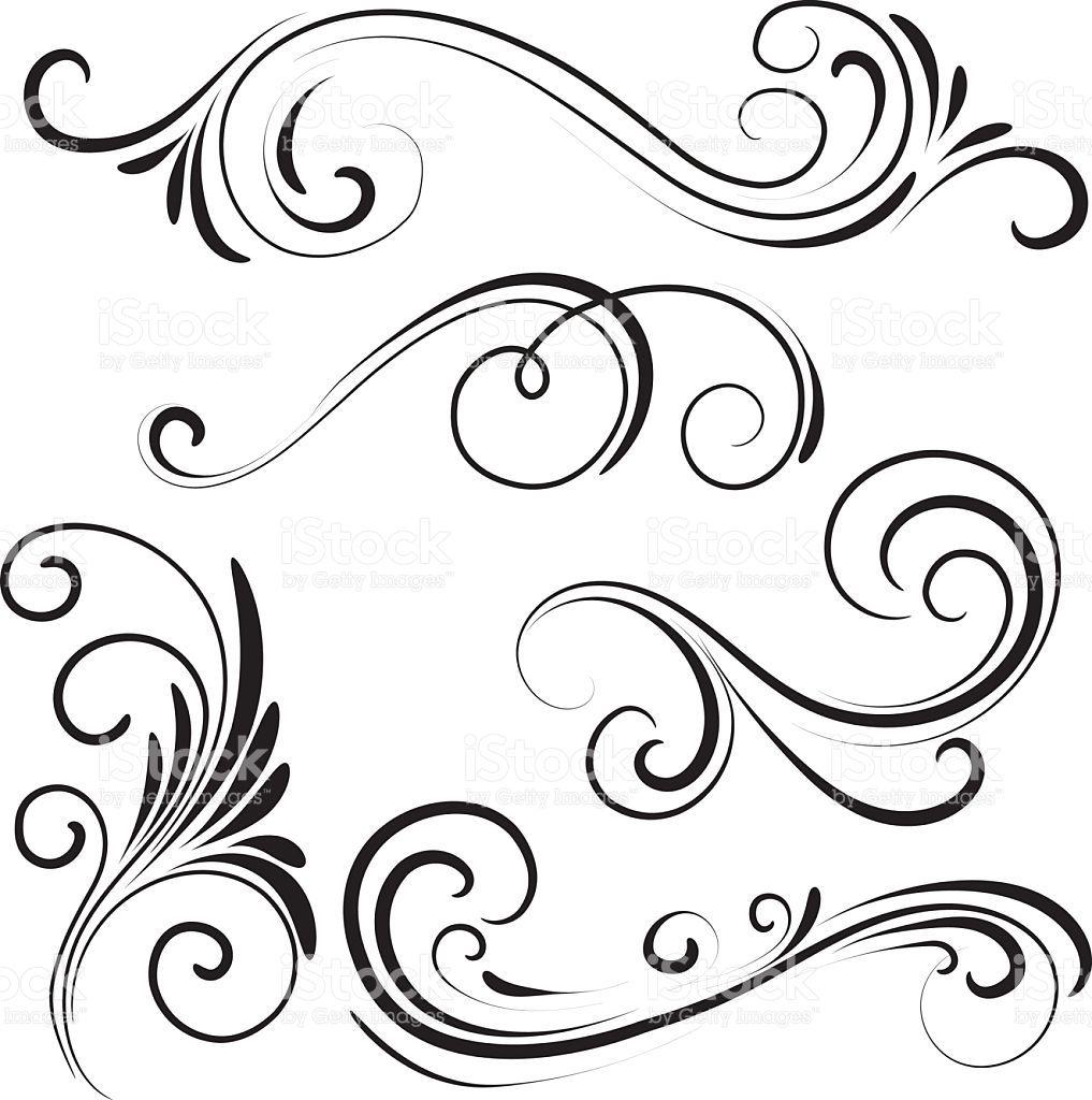 swirl vector id531238078 1017 1024 flowers tree flourish rh pinterest com swirl design clipart vector swirl vector art