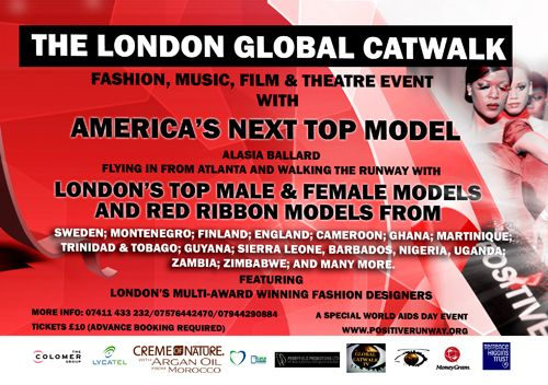 Fashion show raising awareness for HIV & AIDS.