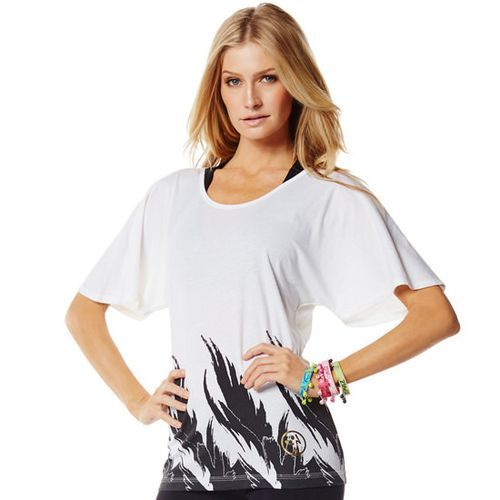 Zumba Fitness Sew Long Loose Tee - Wear it Out White
