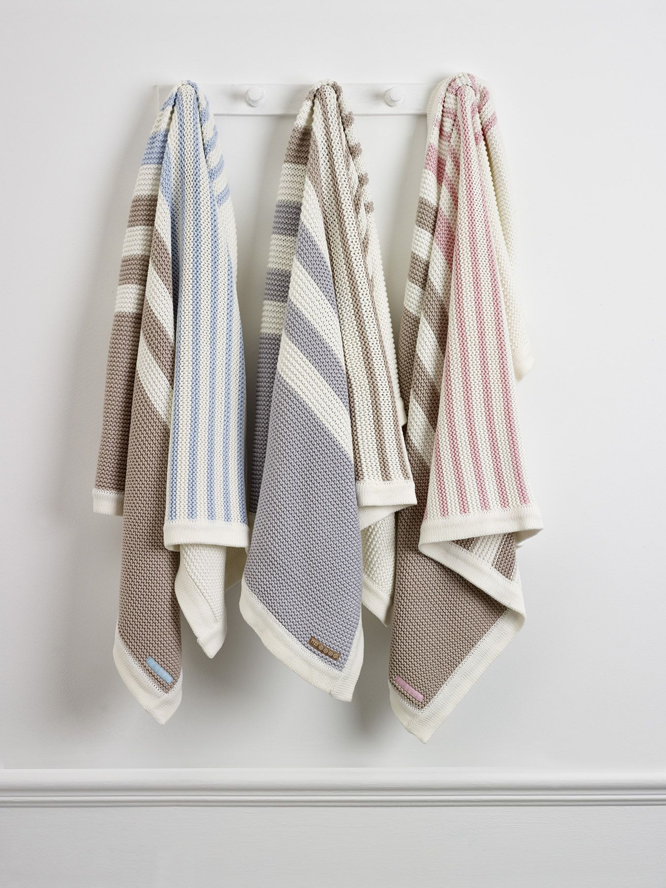 Natures Knits Striped #Blanket made from 100% Organically Grown, Naturally  Coloured #Cotton.