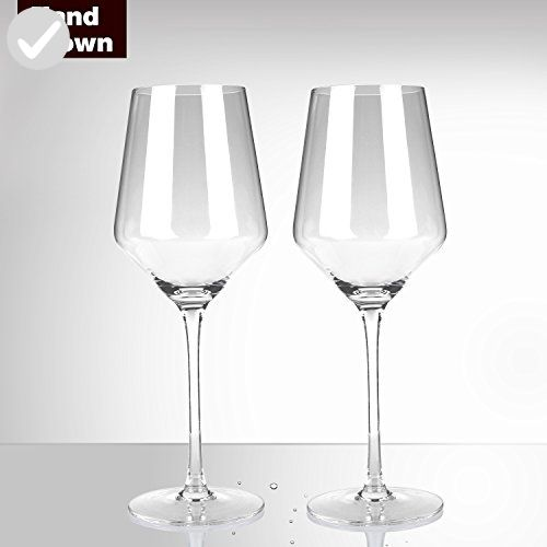 Short Stem Lead-Free White Red Wine Crystal Glass 2-Pack White Wine Glasses