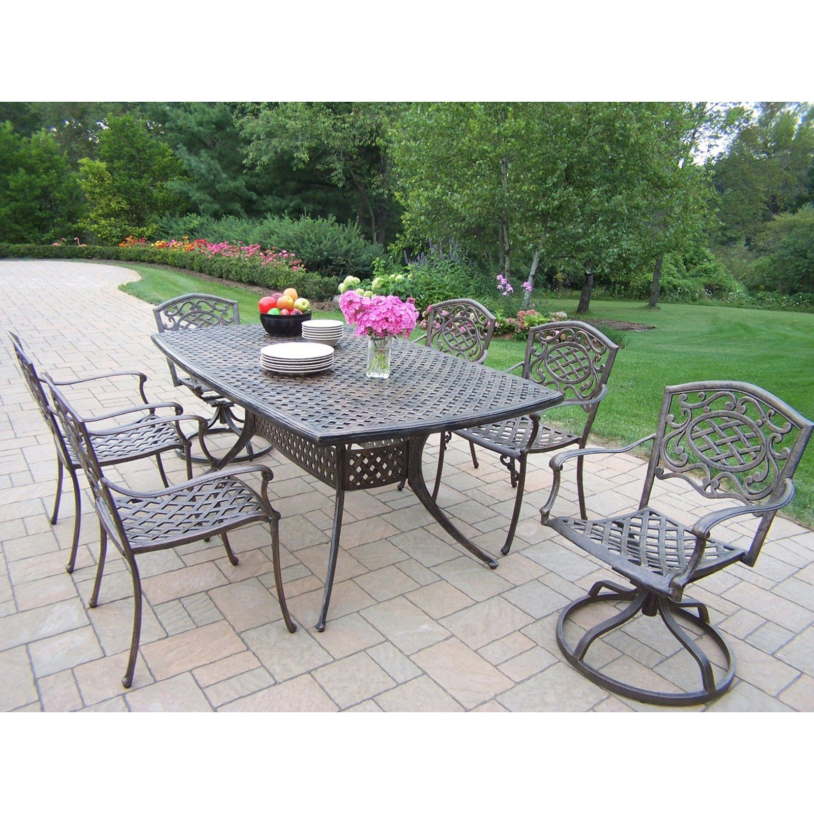 Outdoor Oakland Living Oxford Mississippi Cast Aluminum Patio Dining