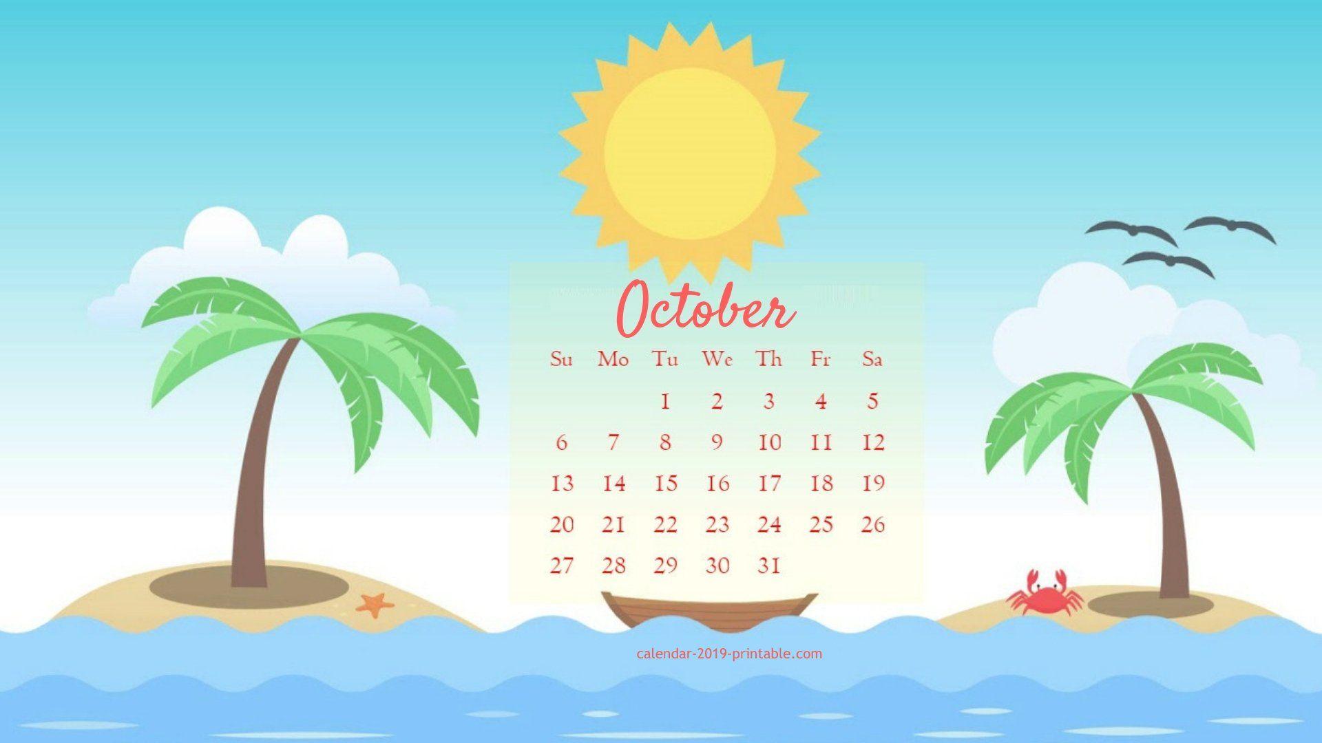 october 2019 cute calendar wallpaper Calendar wallpaper