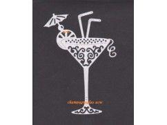 39) stansjes oplegkaartjes 2x cocktailglas