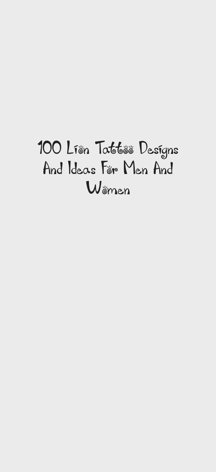 Photo of 100 Lion Tattoo Designs And Ideas For Men And Women – Best Tattoos