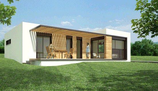 Frentes de casas simples victoria azofeifa casas for Casas prefabricadas hormigon modernas