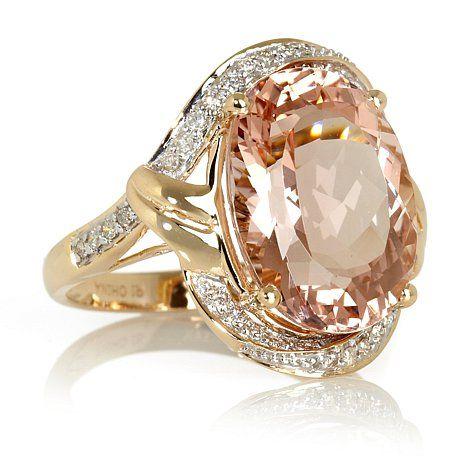 Rarities: Fine Jewelry with Carol Brodie 14K Yellow Gold 9.01ct Pink Morganite at HSN.com