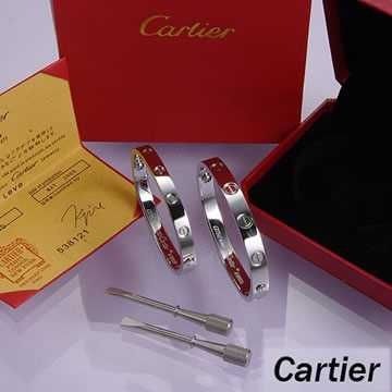 Cartier Leve Lovers Bangles White Gold (Double) price 85.99