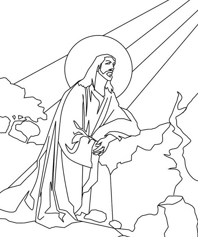 Ascension Of Jesus Christ Coloring Pages Jesus Coloring Pages