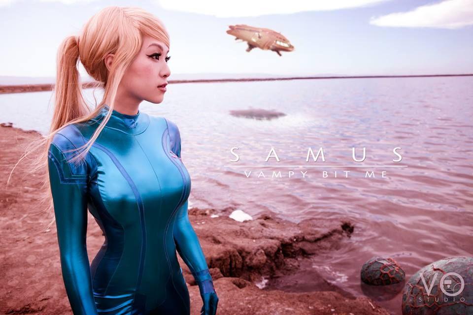 Vampy Bit Me - Samus Aran (Zero Suit) Cosplay - Metroid | Zero suit samus cosplay, Samus aran ...