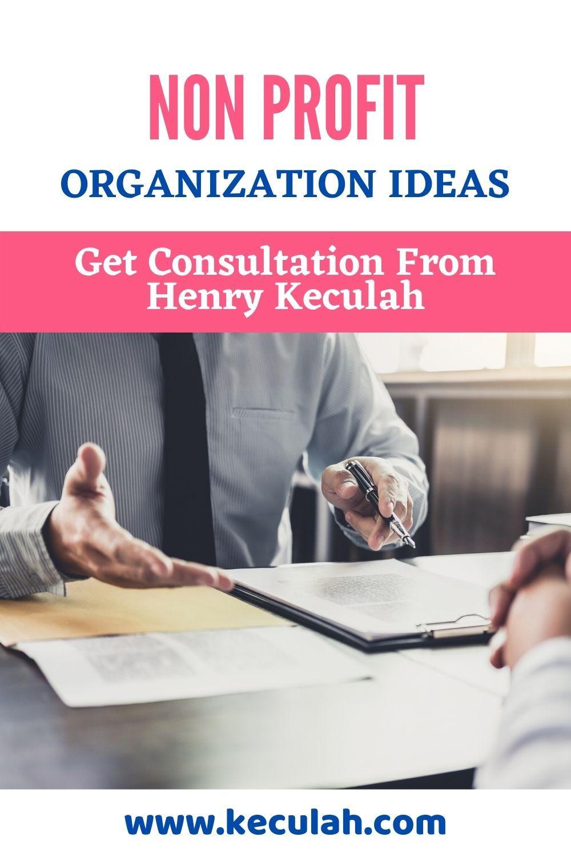 Nonprofit organization ideas through our consultation to