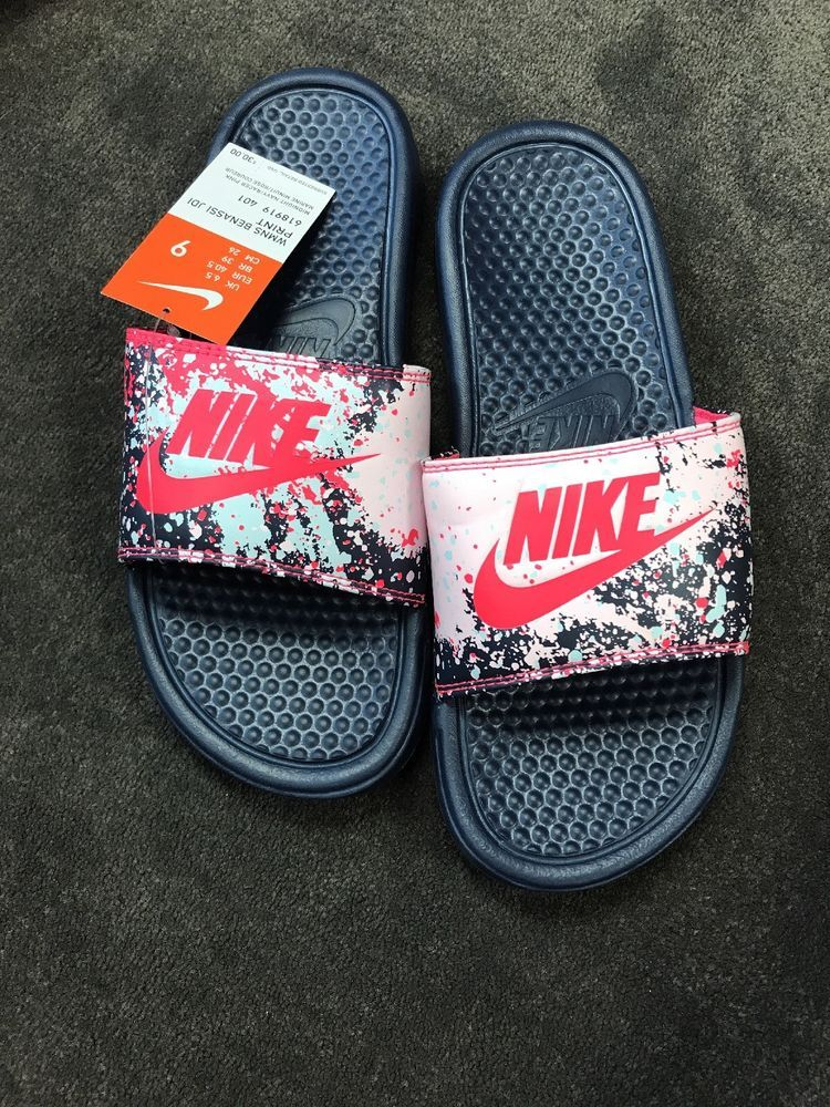 36a2de3b5624 Nike Benassi JDI Print Womens Women s Size 9 Slides NWT New ...