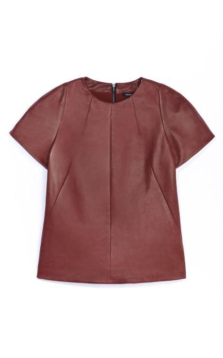 Narciso Rodriguez Plonge Leather Top on Moda Operandi