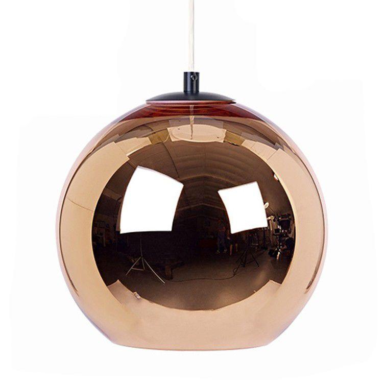 E27 Ampoule LED Pendentif Lampe Miroir Boule De Verre Moderne