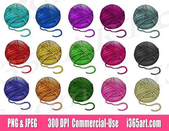 Yarn Clipart Clip Art Crochet Clipart Yarn Ball Clipart Etsy Yarn Ball Clip Art Yarn