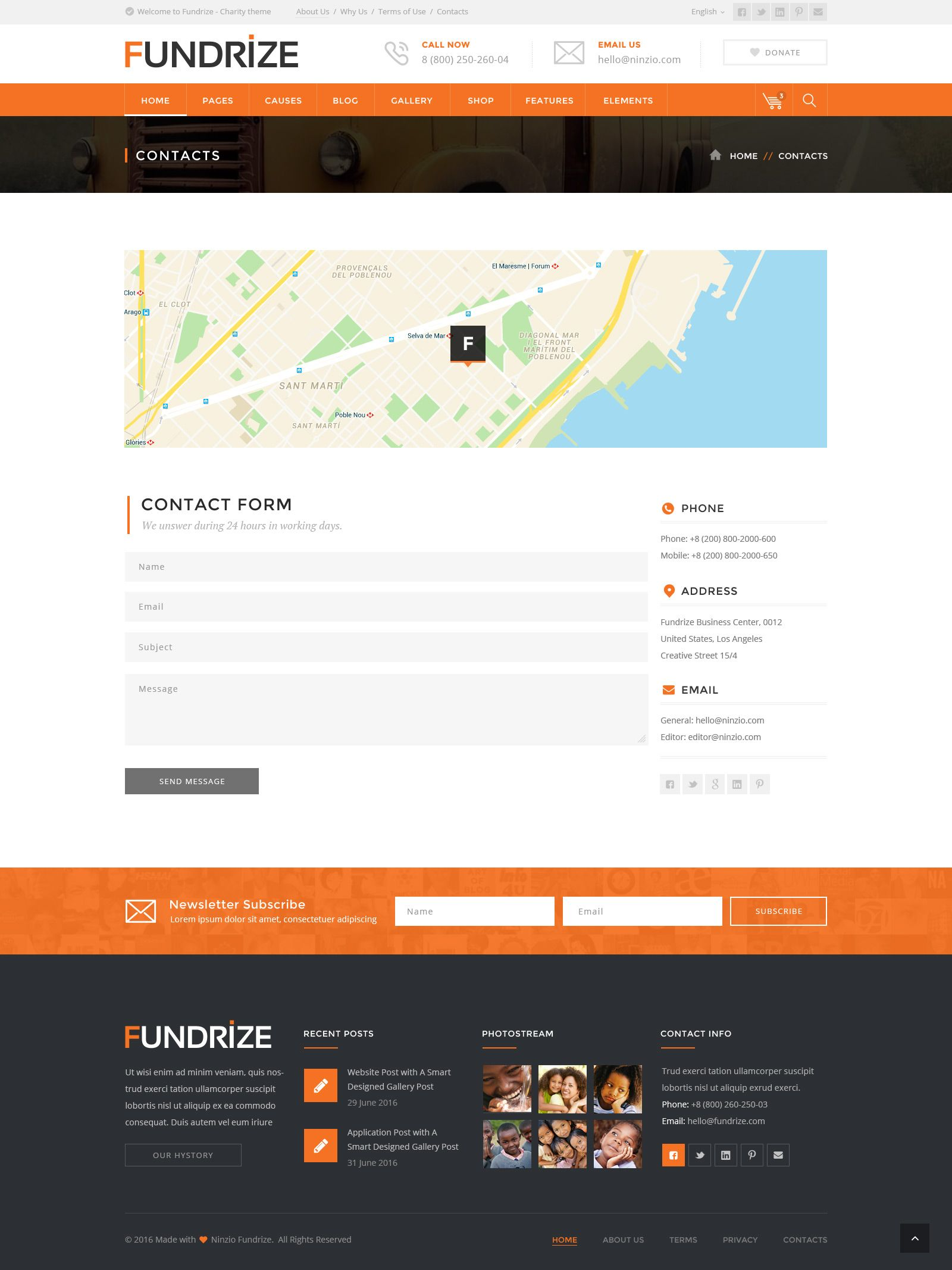 Fundrize - Donation / Charity PSD Template - PSD Templates | Web ...