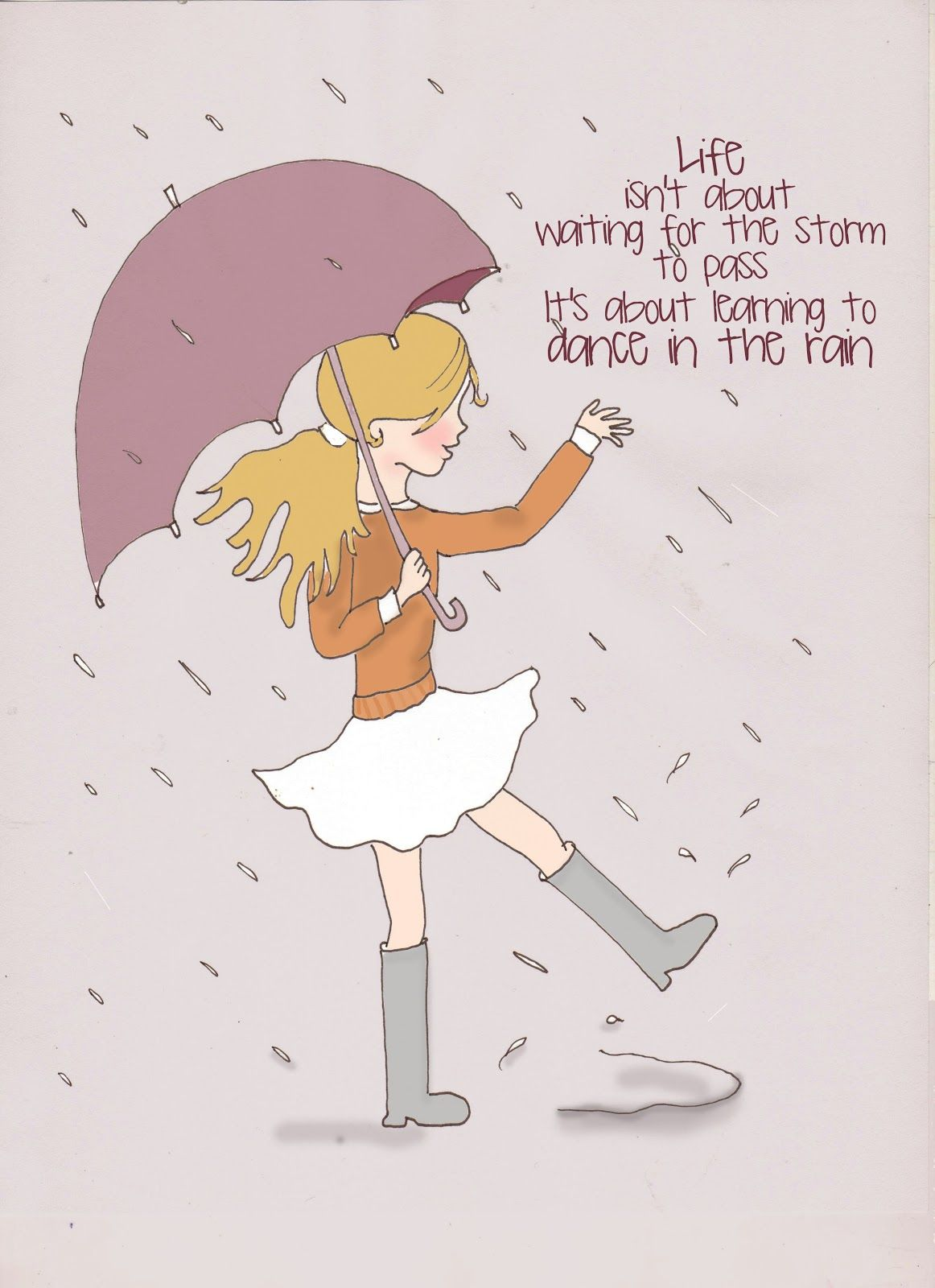 Rose Hill Designs: Sunday Sketches   Learning To Dance In The Rain