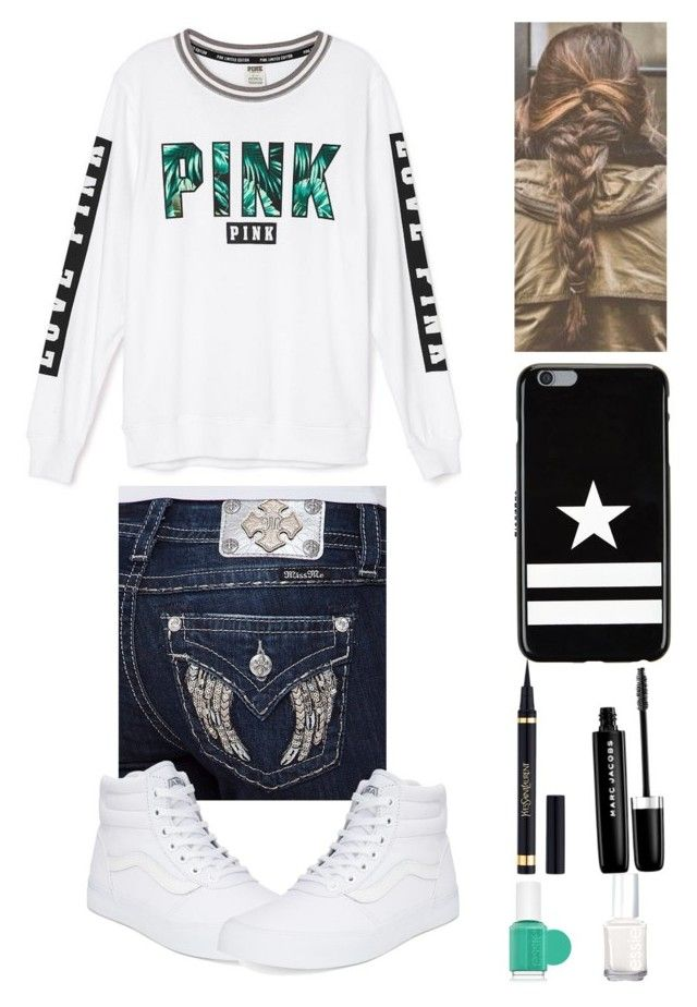 """""""Pink"""" by karhoades-2 ❤ liked on Polyvore featuring Victoria's Secret, Miss Me, Vans, Givenchy, Yves Saint Laurent, Marc Jacobs and Essie"""