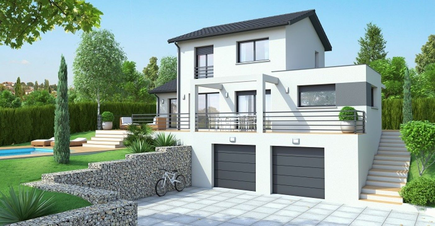Formidable maison avec sous sol sur terrain en pente house dream en 2019 plan de maison - Plan maison terrain pente ...