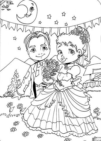 Casais De Festa Junina Para Imprimir E Colorir Desenhos Para