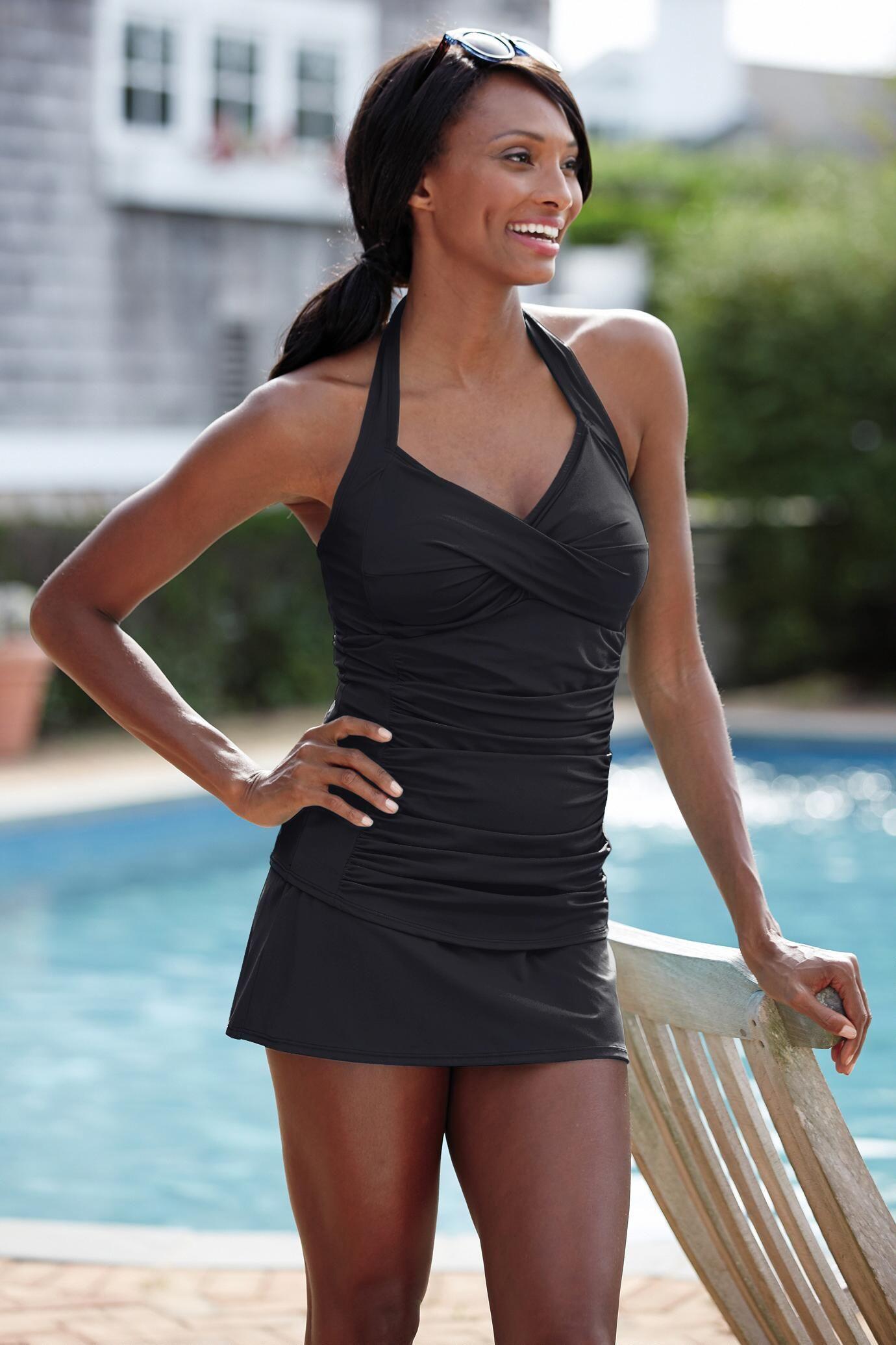 49d1276b26f91 Ruched Halter Skirtini | SUMMER SUMMER | Swimsuits, Swimwear, Tights ...