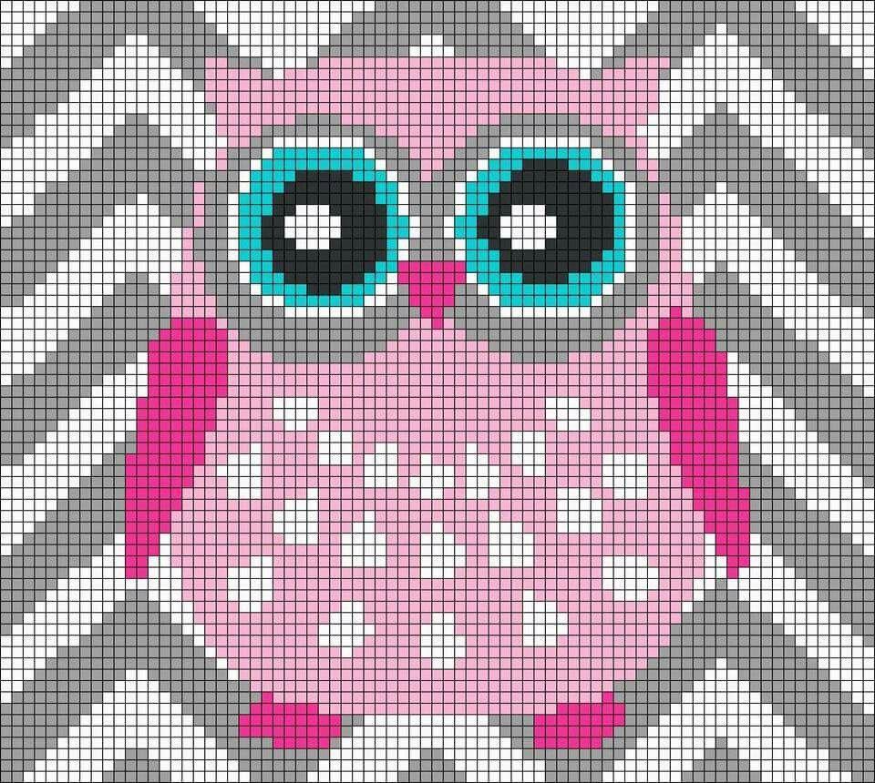 Owl graph | bolsos | Pinterest | Punto de cruz, Puntadas y Bordado