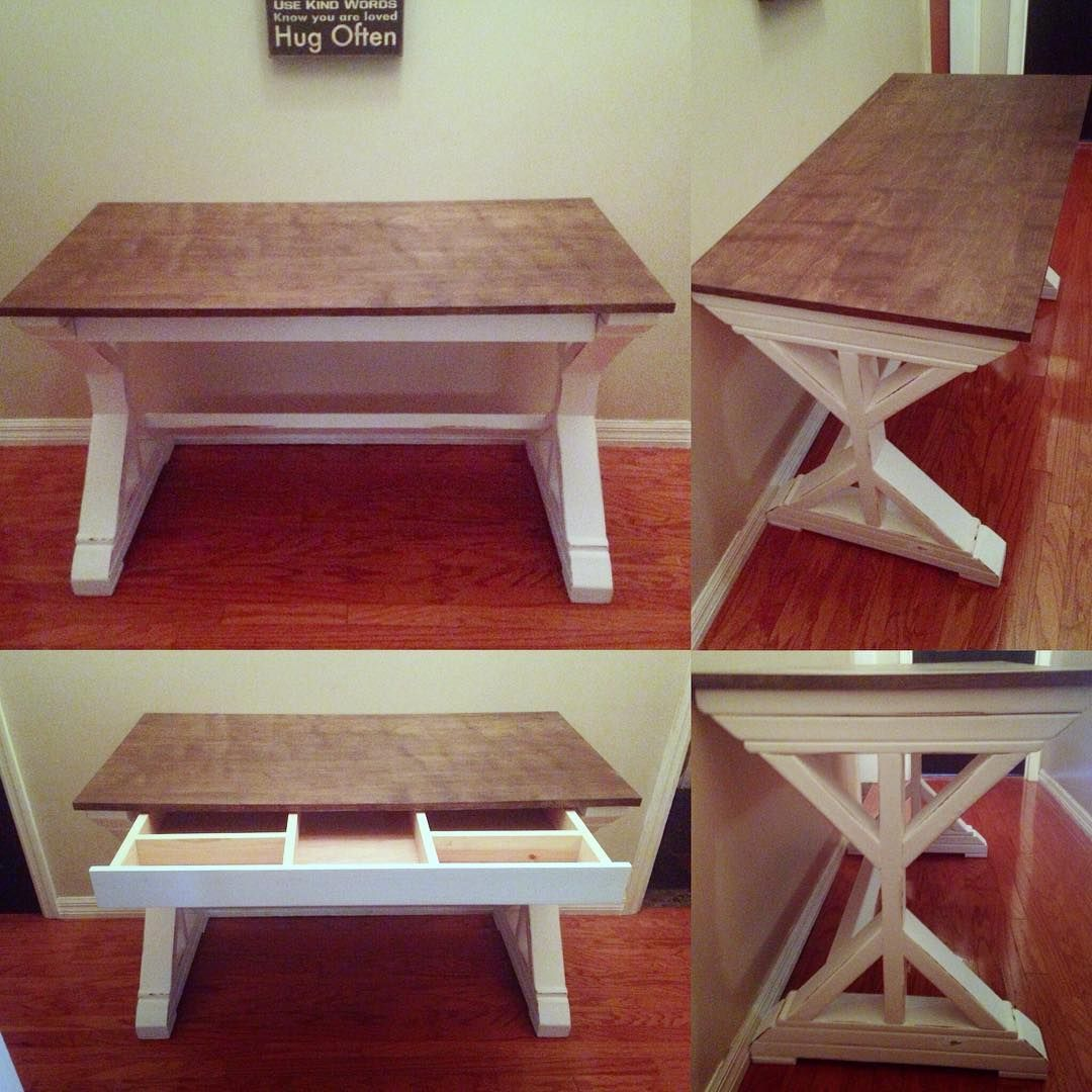 Pin By Ana White On Office Tutorials Farmhouse Desk Desk With