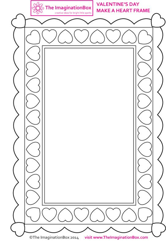 Valentine S Day Printables Art Craft Projects For Kids Valentines Day Coloring Page Valentines Frames Valentines Day Coloring