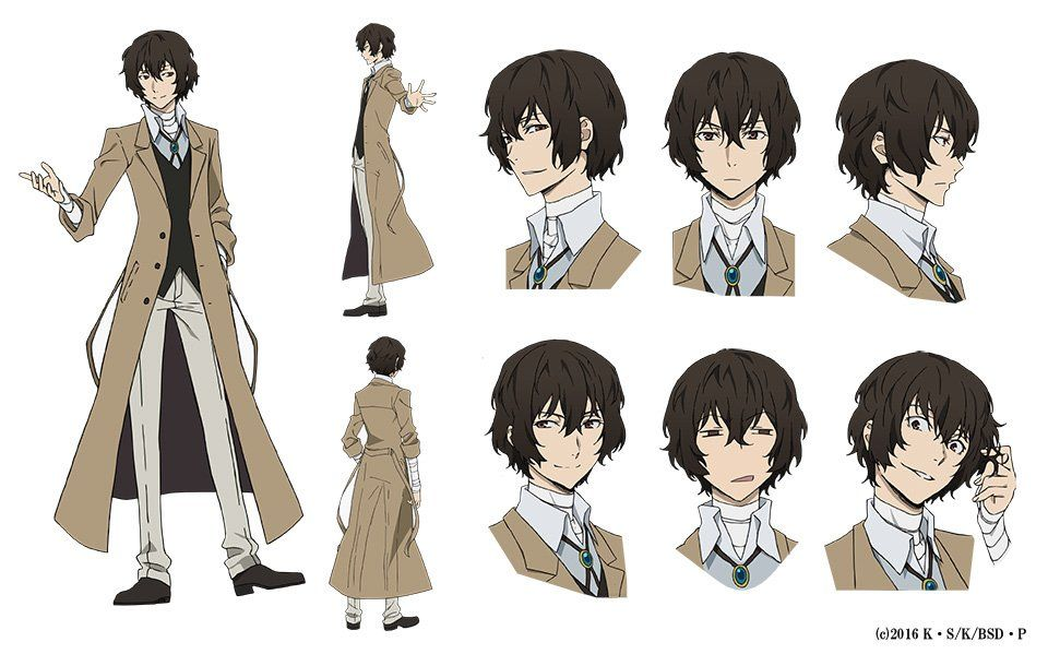 Bungō Stray Dogs Anime S Character Design Sheets Unveiled News Anime News Network Bungou Stray Dogs Characters Stray Dogs Anime Dazai Bungou Stray Dogs