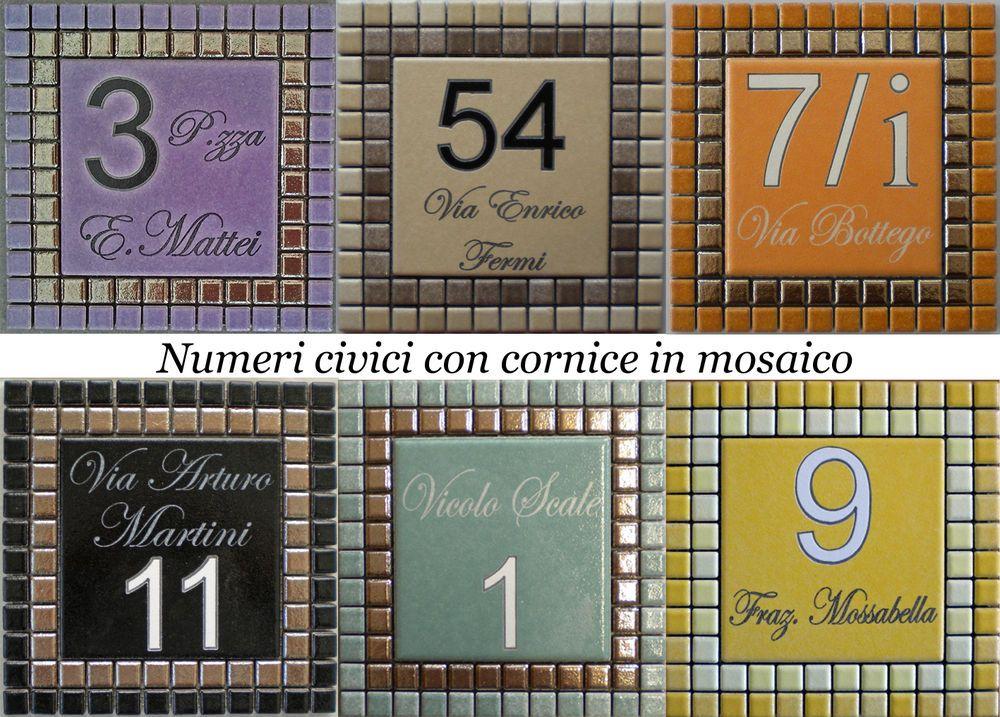 Piastrella con numero civico acquista numero civico piastrelle