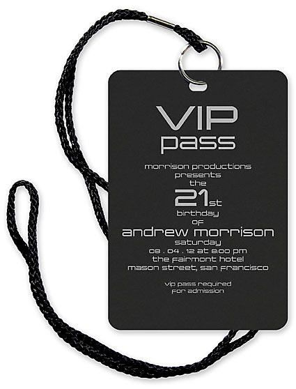 vip pass invitation with lanyard by checkerboard invitation box