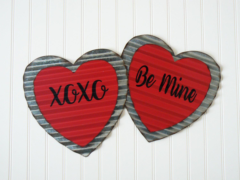 Corrugated metal heart wall art decor valentines metal heart