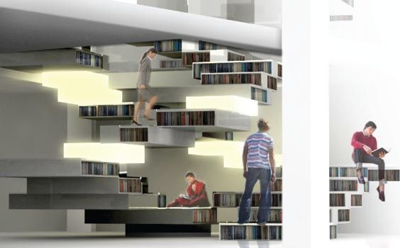 bookstairs | interior architecture | pinterest, Innenarchitektur ideen