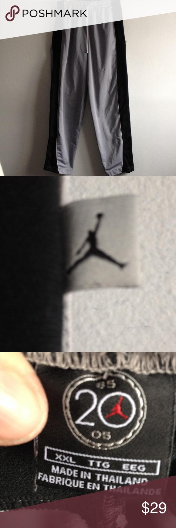 ff587b9f1cc2 Michael Jordan Men s XXL Sweatpants Joggers Men s gray with black Jordan  sweatpants featuring iconic jumping man. Size XXL