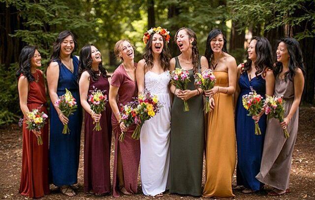 59d9085af727 Jewel tone bridesmaids dresses. #MaggieSottero #MyLoveStory #CoastDiamond  #ShowYourCoast