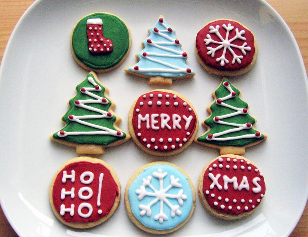 Amerikanische Weihnachtsplätzchen - Sugar Cookies mit Royal Icing