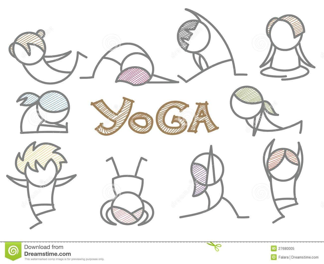 Yoga Cartoon Stock Photos Images Pictures 1 375 Images Yoga Cartoon Line Art Vector Line Art