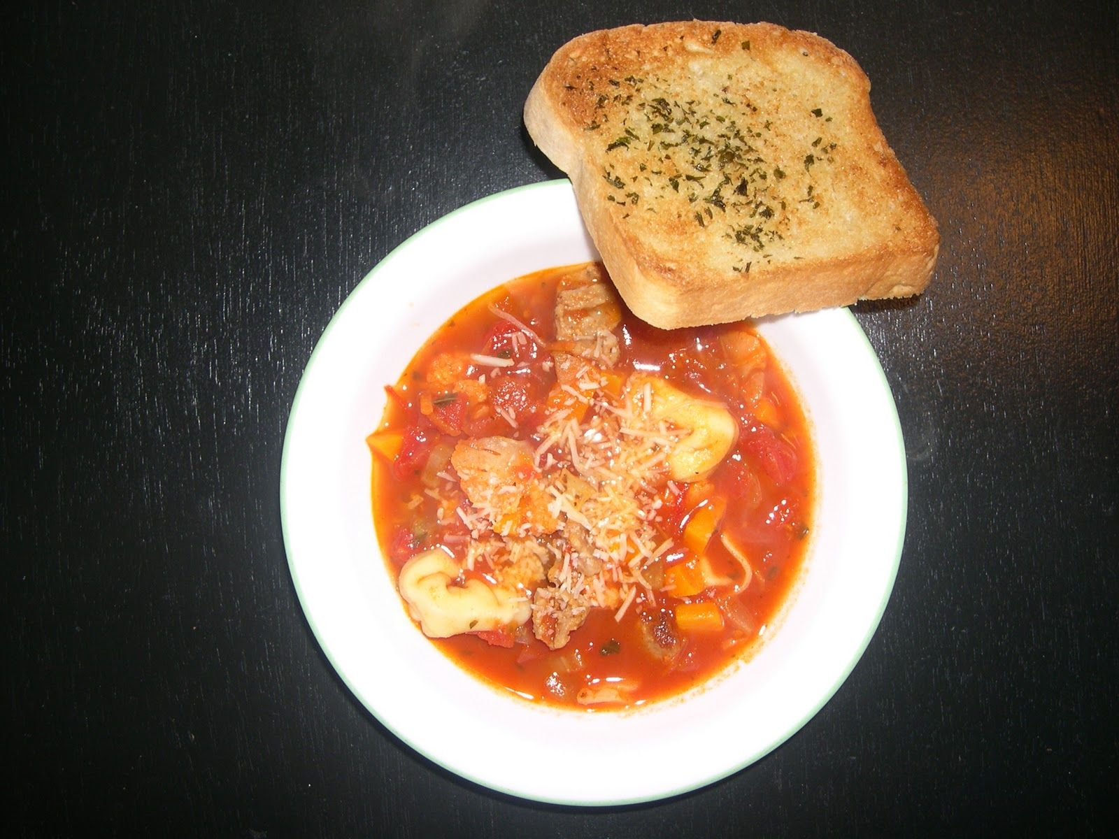 Tortellini Soup.   Making this tonight, but adjusted the recipe a bit.  can't wait to try
