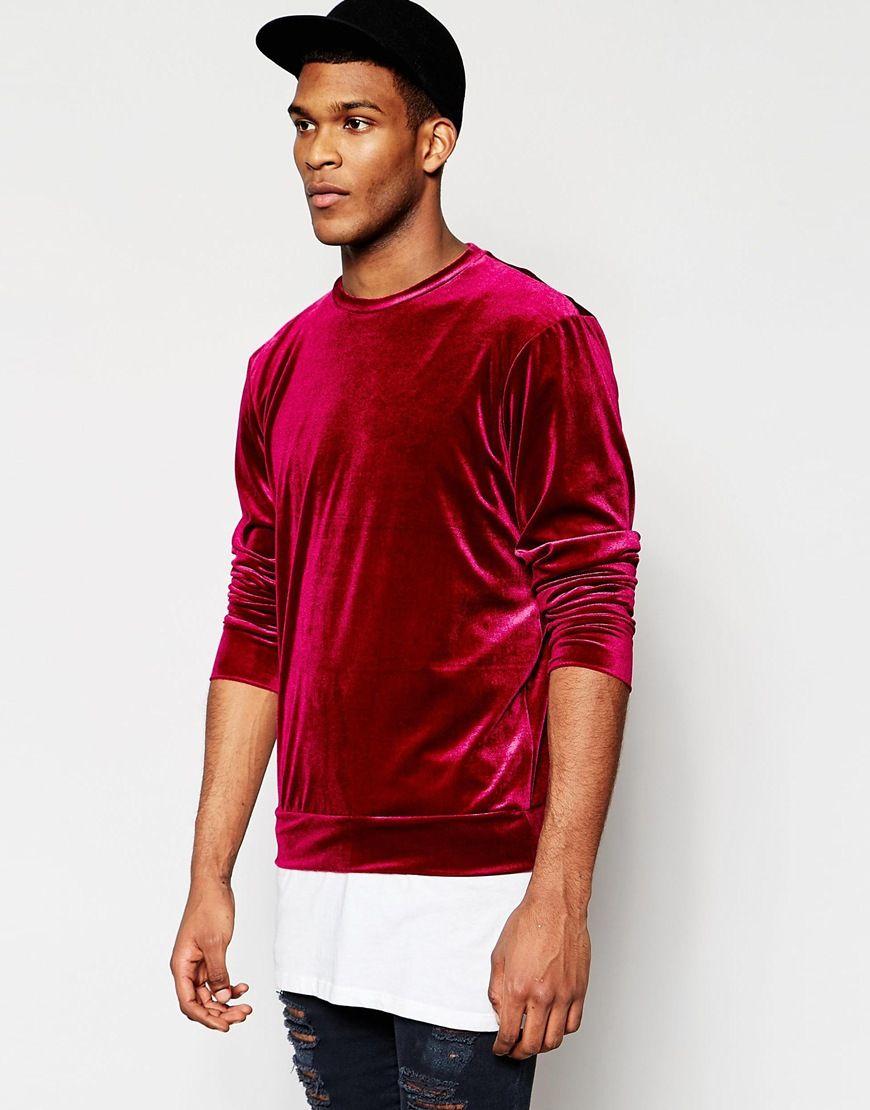 Reclaimed+Vintage+Velour+Sweatshirt