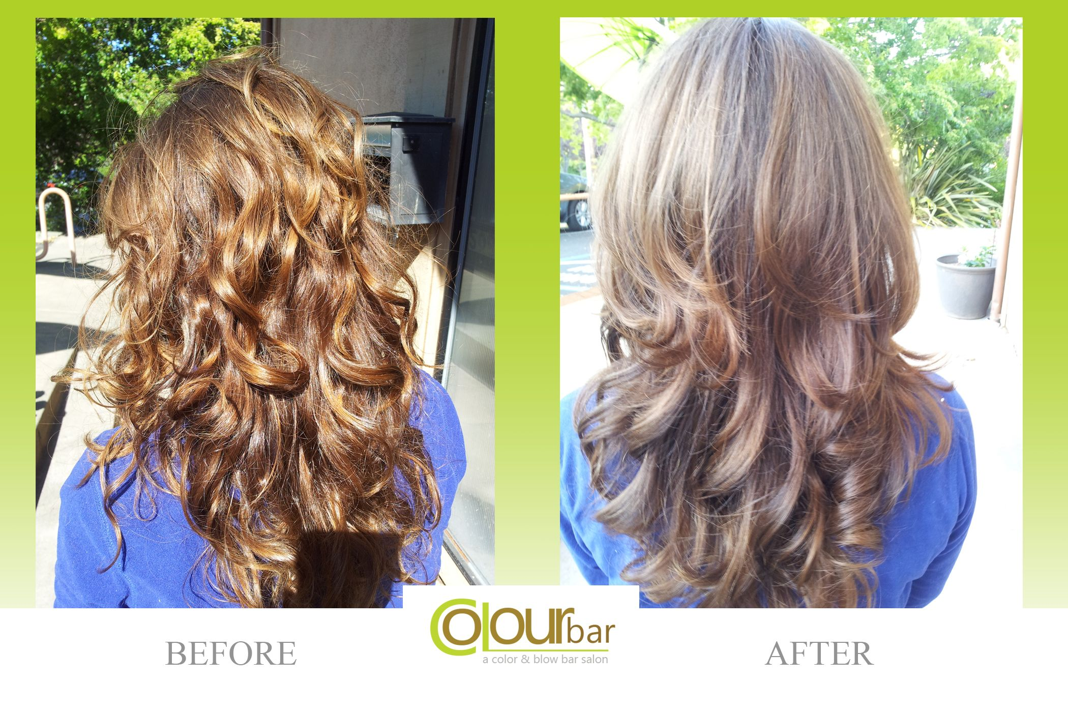 Weure loving this rich brown no more brassy hair before and